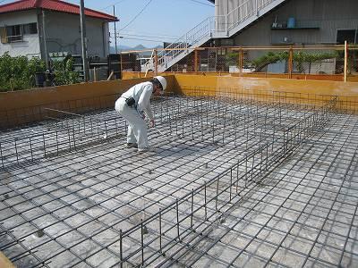 project 【しまなみ式環境共生住宅】 基礎配筋検査